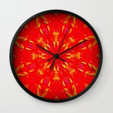 Fire Mandala Wall Clock