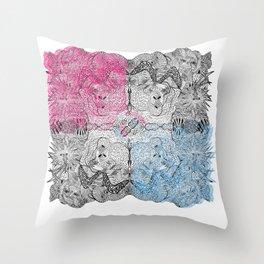 Die Seltsam (runde zwei.) Throw Pillow