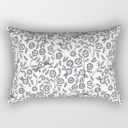 French Florals Rectangular Pillow