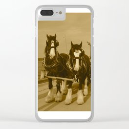 Draft Horses and Carriage Clear iPhone Case