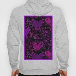 Kiss Me, Miss Me Purple Hoody