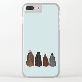 Kings and Queens Clear iPhone Case