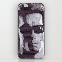 terminator iPhone & iPod Skins featuring Terminator by DeMoose_Art