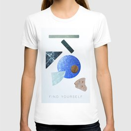 #FIND YOURSELF - abstract art print T-shirt