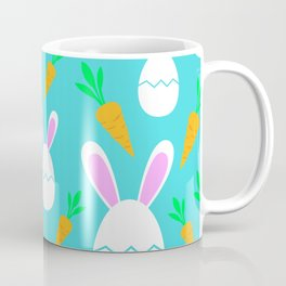 Happy Bunnies & Carrots | Easter Bunny | Easter Egg Bunny | pulps of wood Coffee Mug
