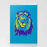 the lion king Stationery Cards featuring KING LION by free_agent08