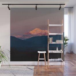 Sunset on Mount Baker Wall Mural