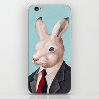 rabbit iPhone & iPod Skins featuring Rabbit by Animal Crew