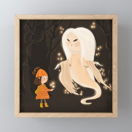 Fireflies Ghost Framed Mini Art Print