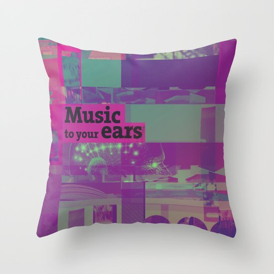Music To Your Ears (ANALOG zine) Throw Pillow