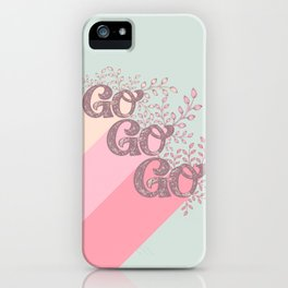 Go Go Go - Pink and Green iPhone Case