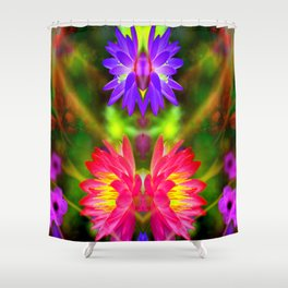 Pink and Purple lotus Shower Curtain