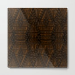 Coppery African Pyramid Metal Print