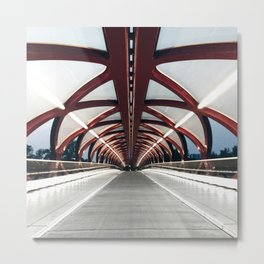 Peace bridge in Calgary Metal Print