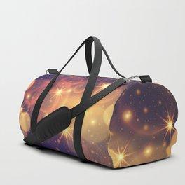 Shiny Sparkling Festive Holiday Bokeh Decorative Duffle Bag