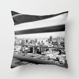 San Diego Through the Blinds Throw Pillow