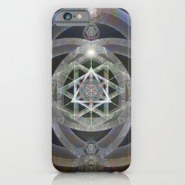 Spectrum Flow Merkaba Sacred Geometry Meditation Tapestry Print iPhone Case