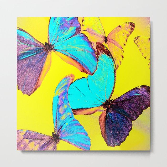 Shiny and colorful butterflies #decor #buyart #society6 Metal Print