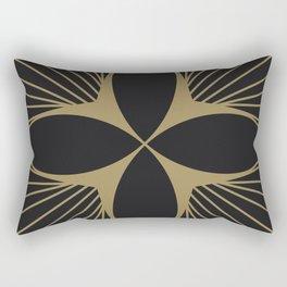 Diamond Series Floral Diamond Gold on Charcoal Rectangular Pillow