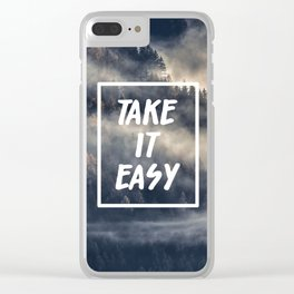 Take it easy on the mountains! Clear iPhone Case