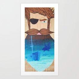 If This Beard Could Talk, Hair Series Art Print