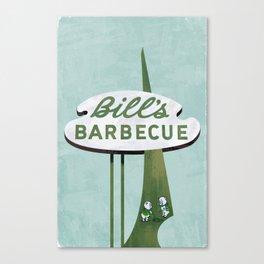 Bill's Barbecue Canvas Print