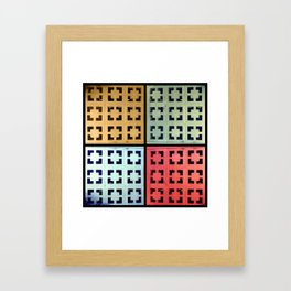 Brick Work Framed Art Print