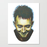 radiohead Canvas Prints featuring Radiohead by Laura O'Connor