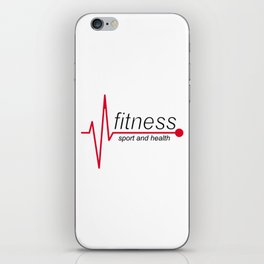 Fitness and sport iPhone Skin