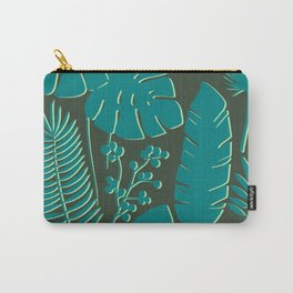 Leaves in Green Carry-All Pouch