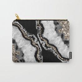 Yin Yang Agate Glitter Glam #13 #gem #decor #art #society6 Carry-All Pouch