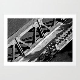 A bridge in San Antonio Art Print