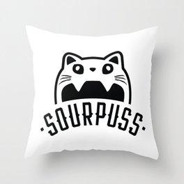 SOURPUSS Throw Pillow