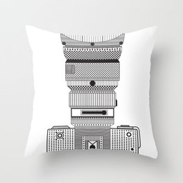 D.S.L.R. (B & W) Throw Pillow