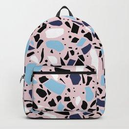 Terrazzo Spot Blues on Blush Backpack