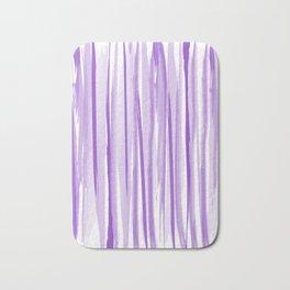 Purple watercolor striped pattern Bath Mat