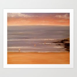 View of Tabacco Beach, Southern Spain Art Print