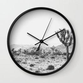 Joshua Tree Monochrome, No. 1 Wall Clock