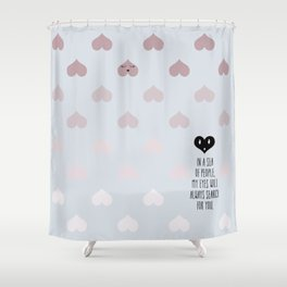 SEA OF HEARTS Shower Curtain