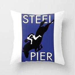 Atlantic City, NJ  Steel Pier Diving Horse Throw Pillow