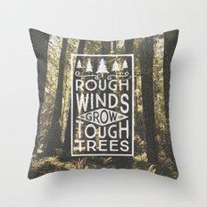 TOUGH TREES Throw Pillow