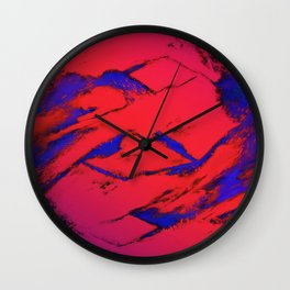Fractured anger red Wall Clock