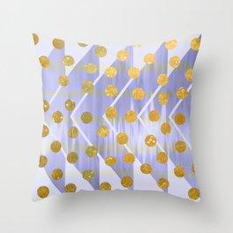 NL 9 13 Chevron Polka Dots Throw Pillow