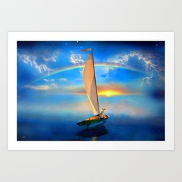 I'm Sailing Away Art Print