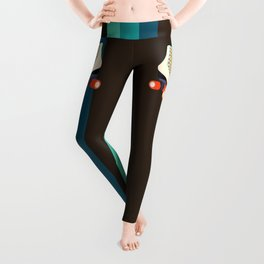 Retro Roller Skates Leggings