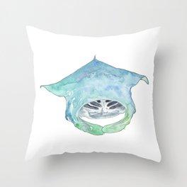 Manta ray Magic Throw Pillow
