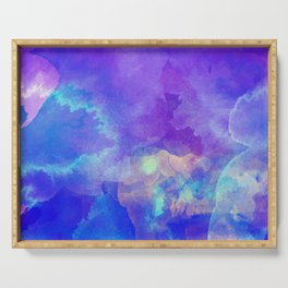 Watercolor abstract art Serving Tray