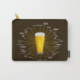 """""""Beer"""" in 45 different languages Carry-All Pouch"""
