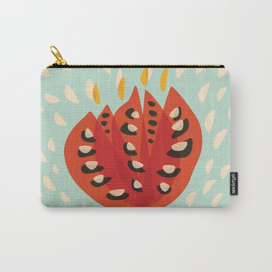 Red Abstract Tulip Carry-All Pouch