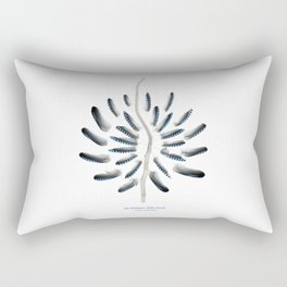 jay feathers, drift wood... feather mandala Rectangular Pillow